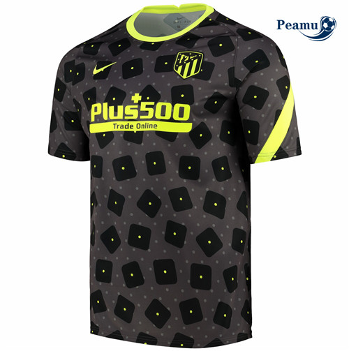 Peamu - Maillot foot Atletico Madrid training Noir 2020-2021