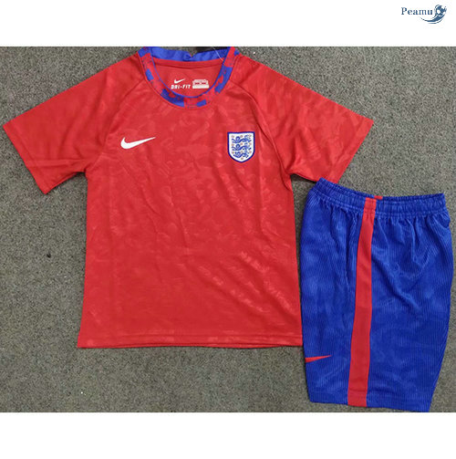 Peamu - Maillot foot Angleterre Enfant Rouge 2020-2021