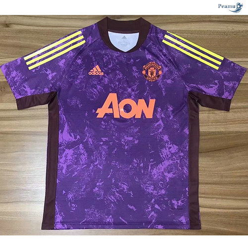 Peamu - Maillot foot Manchester United training Violet 2020-2021