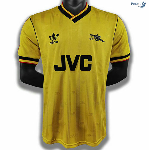 Peamu - Maillot Foot Rétro Arsenal Jaune 1986-88