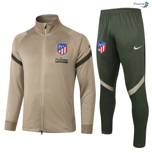 Peamu - Veste Survetement Atletico Madrid Kaki 2020-2021
