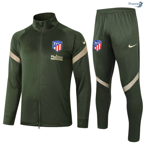 Peamu - Veste Survetement Atletico Madrid Armee Verte 2020-2021