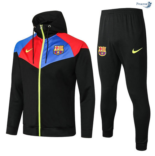 Peamu - Survetement - Sweat à capuche Barcelone Noir 2020-2021