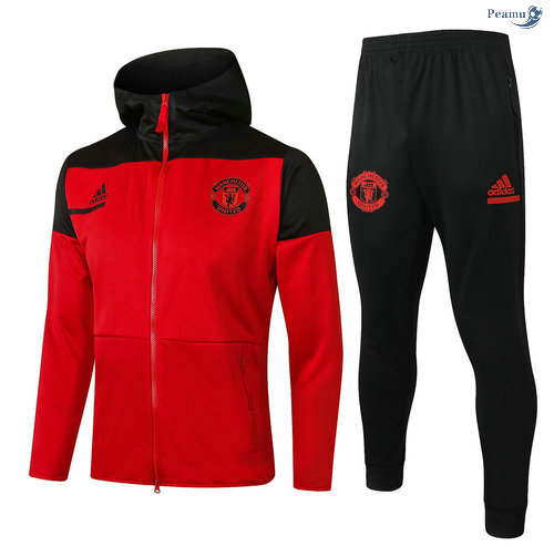 Peamu - Survetement - Sweat à capuche Manchester United Rouge 2020-2021