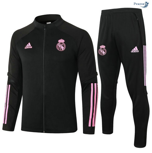 Peamu - Veste Survetement Real Madrid Noir/Rouge 2020-2021