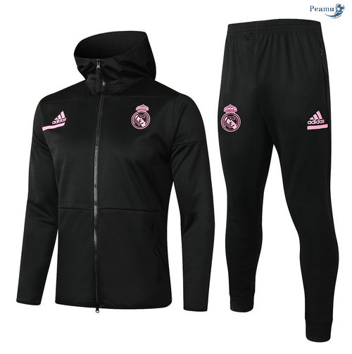 Peamu - Survetement - Sweat à capuche Real Madrid Enfant Noir 2020-2021