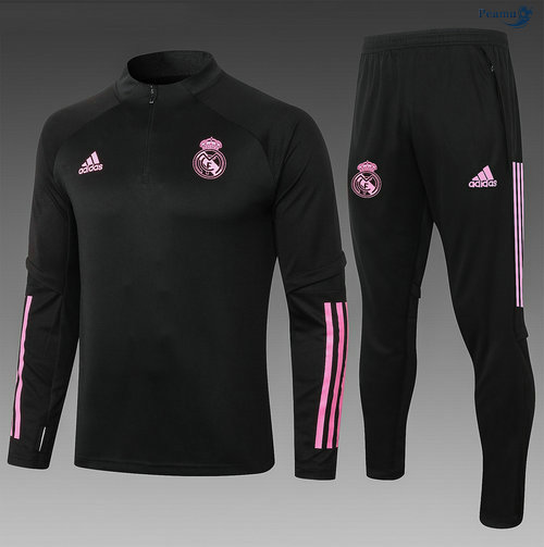 Peamu - Survetement Real Madrid Enfant Noir/Rouge 2020-2021
