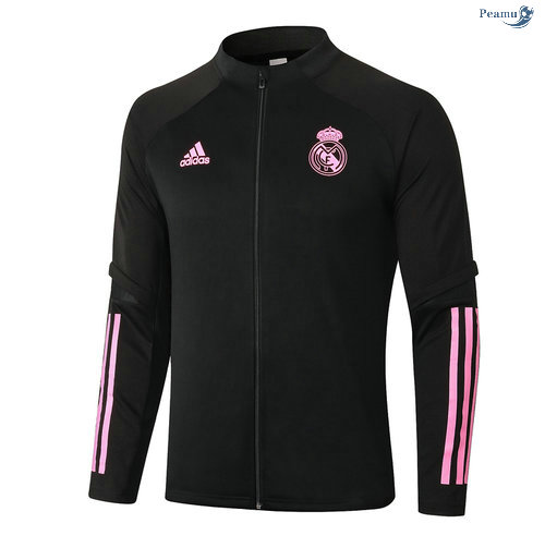 Peamu - Veste foot Real Madrid Noir/Rouge 2020-2021