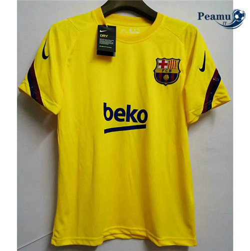 Maillot foot Barcelone Jaune 2020-2021