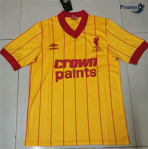 Maillot foot Liverpool Champions League Jaune 1981-84