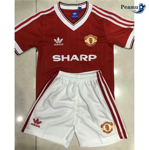 Maillot foot Manchester United Enfant Rouge 1984