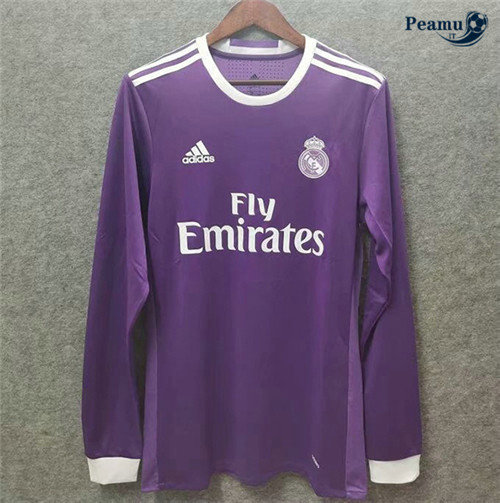 Maillot foot Real Madrid Exterieur Manche Longue 2016-17