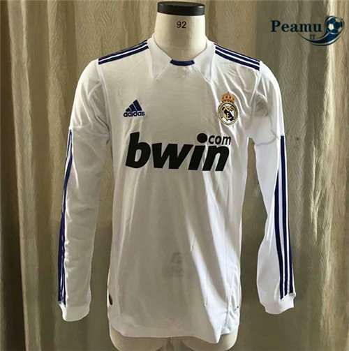 Maillot foot Real Madrid Domicile Manche Longue 2010-2011