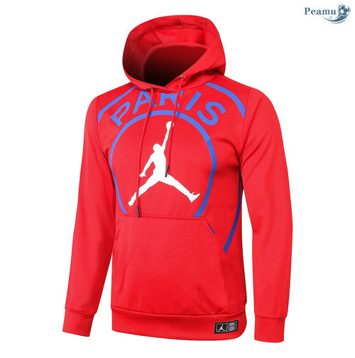 Sweat à capuche PSG Jordan Rouge 2020-2021