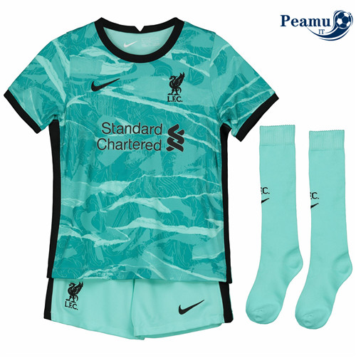 Maillot foot Liverpool Enfant Portiere Verde 2020-2021