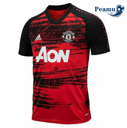 Maillot foot Manchester United training Rouge 2020-2021