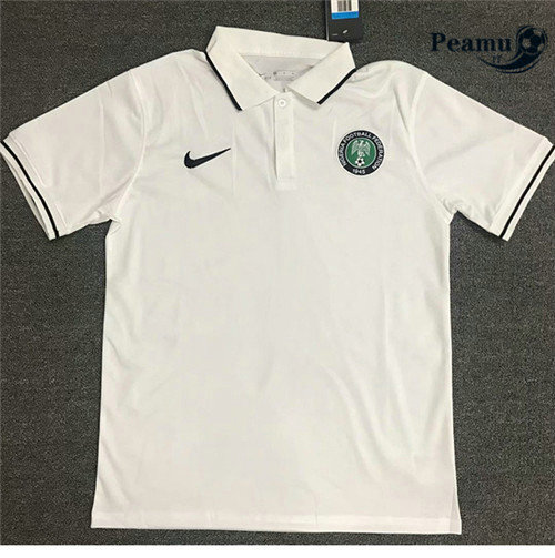 Maillot foot Nigeria polo Blanc 2020-2021