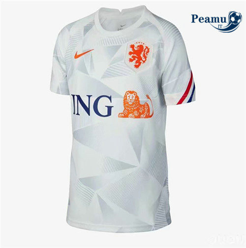 Maillot foot Pays-Bas Exterieur Blanc 2020-2021