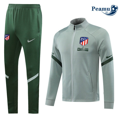 Veste Survetement Atletico Madrid Verde Clair 2020-2021