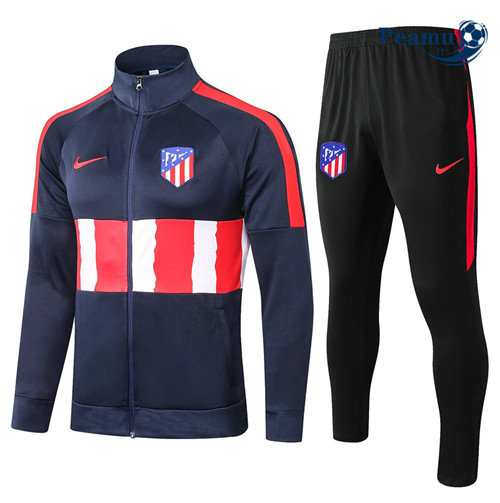 Veste Survetement Atletico Madrid Bleu Marine/Rouge/Blanc 2020-2021
