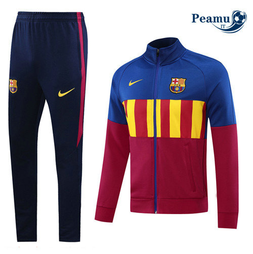 Veste Survetement Barcelone Bleu/Rose 2020-2021