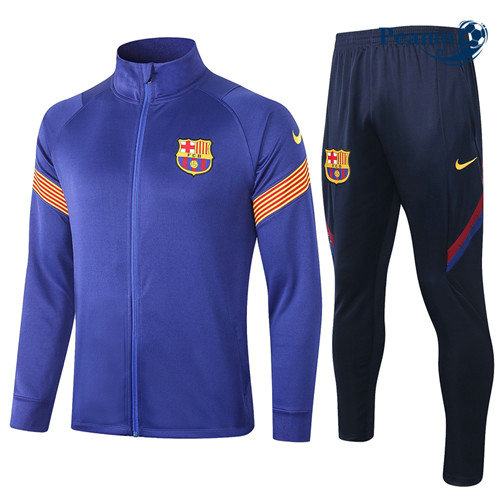 Veste Survetement Barcelone Bleu 2020-2021