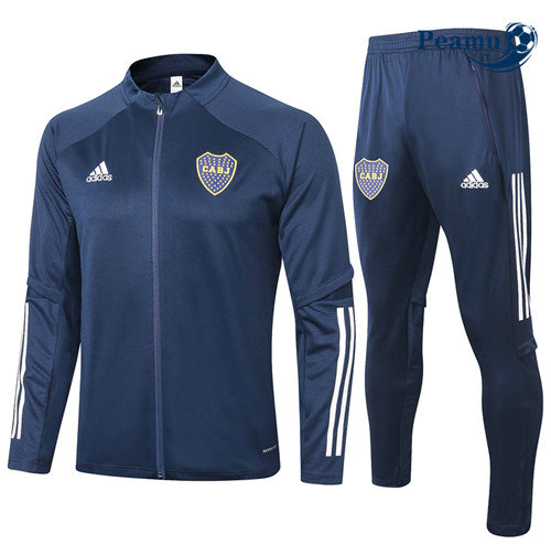 Veste Survetement Boca Juniors Bleu Marine 2020-2021