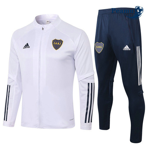 Veste Survetement Boca Juniors Blanc 2020-2021