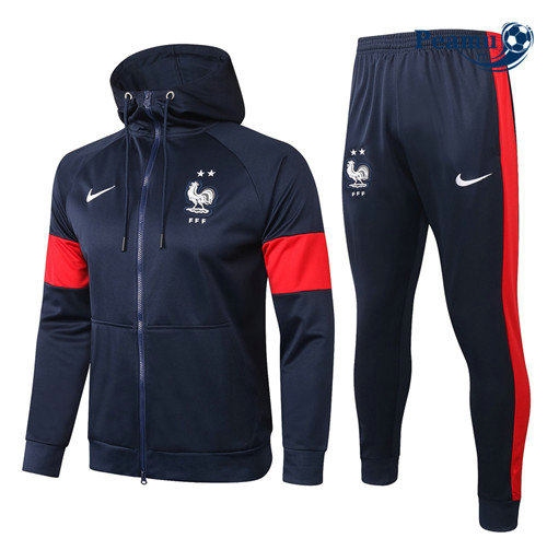 Survetement - Sweat à capuche France Veste Bleu Marine 2020-2021