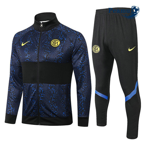 Veste Survetement Inter Milan Bleu Marine/Noir 2020-2021