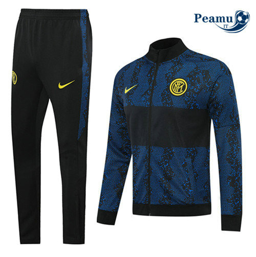 Veste Survetement Inter Milan Noir/Bleu 2020-2021