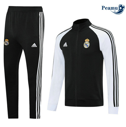 Veste Survetement Real Madrid Noir/Blanc 2020-2021