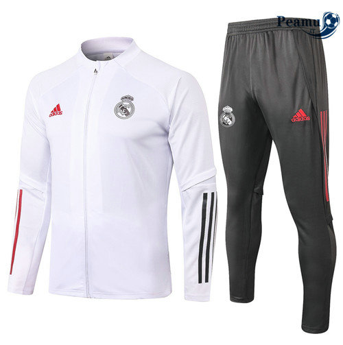 Veste Survetement Real Madrid Blanc 2020-2021