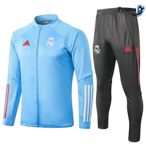 Veste Survetement Real Madrid Bleu Clair 2020-2021