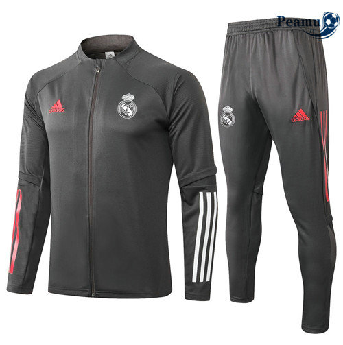 Veste Survetement Real Madrid Gris foncé 2020-2021