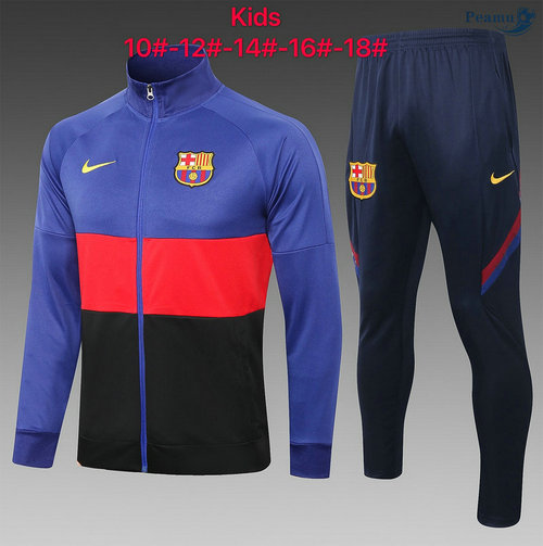 Veste Survetement Barcelone Enfant Bleu/Rouge 2020-2021