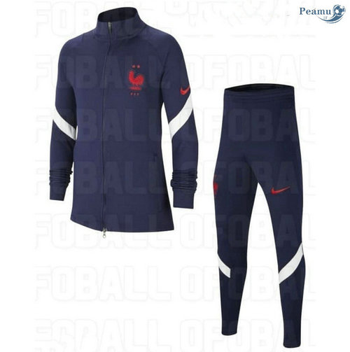 Veste Survetement France Enfant Bleu Marine 2020-2021