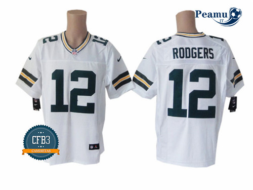 Peamu - Aaron Rodgers, Verde Bay Packers - Blanc