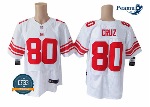 Peamu - Victor Cruz, NY Giants - Blanc/Rouge