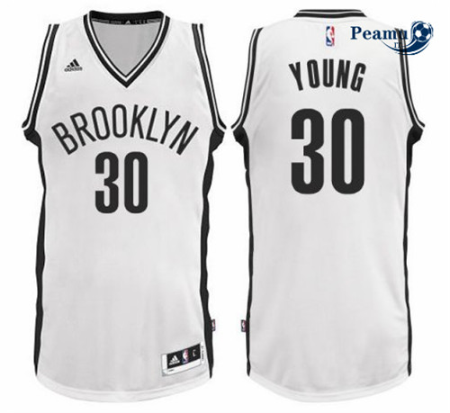 Peamu - Thaddeus Young, Brooklyn Nets - Blanc