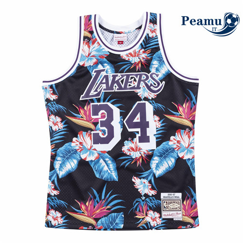 Peamu - Shaquille O'Neal, Los Angeles Lakers - Mitchell & Ness Floral Pack
