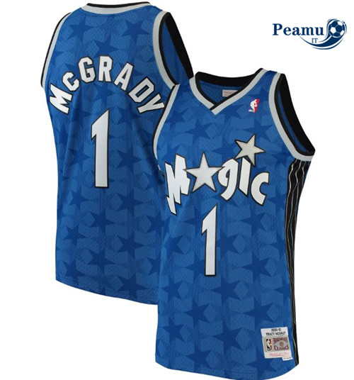 Peamu - Tracy McGrady, Orlando Magic, Mitchell&Ness - Bleu