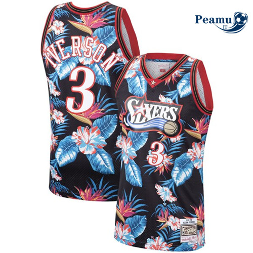 Peamu - Allen Iverson, Philadelphia 76ers - Mitchell & Ness Floral Pack