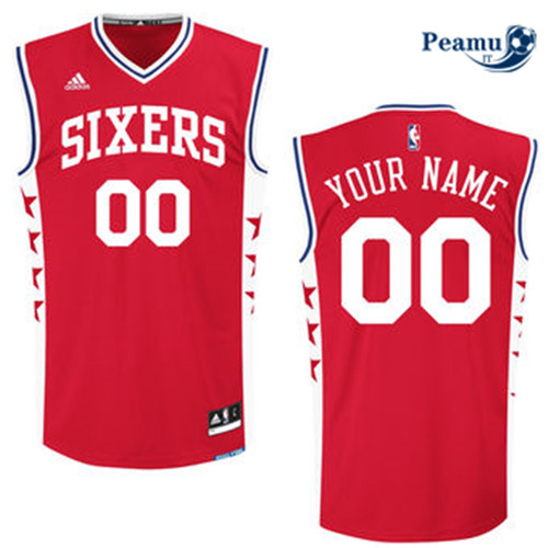 Peamu - Custom, Philadelphia 76ers [Rouge]