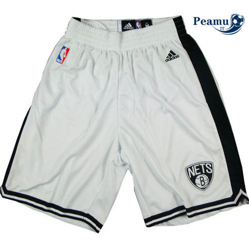 Peamu - Short Brooklyn Nets [Blanco]