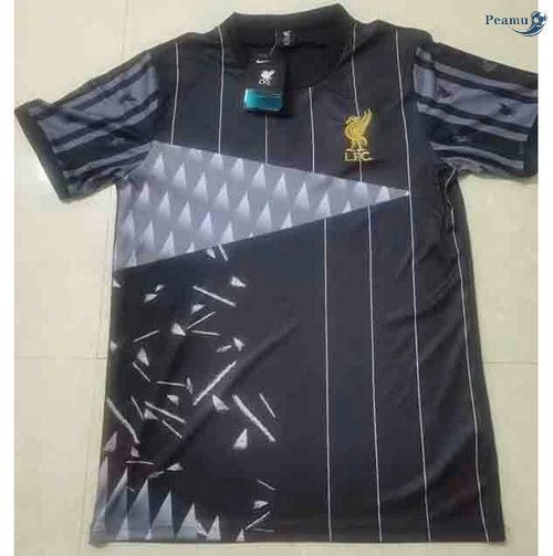 Peamu - Maillot foot Liverpool Noir training 2021-2022