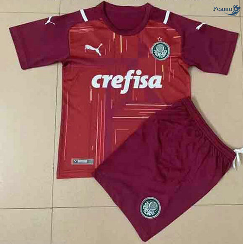 Peamu - Maillot foot Palmeiras Enfant Gardien de but Rouge 2021-2022