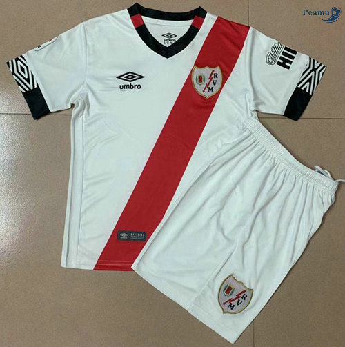 Peamu - Maillot foot Rayo Vallecano Enfant Domicile 2020-2021