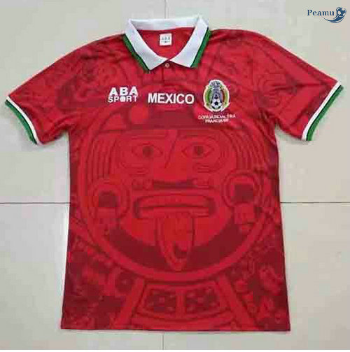 Peamu - Maillot foot Retro Mexique Rouge 1998