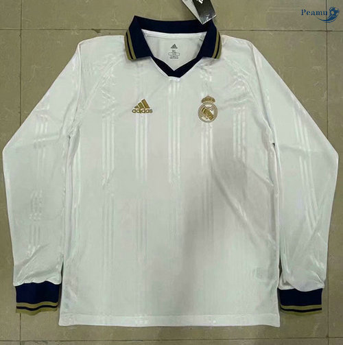 Peamu - Maillot foot Retro Real Madrid Manche Longue training